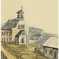 Church At Rejkjavik Iceland 1862 by Aged Pixel