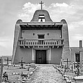 Church At San Ildefonso - Bw by Nikolyn McDonald