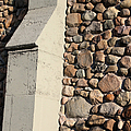 Church Buttress With Shadows by Mary Bedy