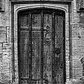 Church Door Bw by Noel Lopez