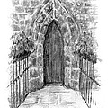 English Church Door by Sarah Parks