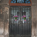 Church Doors And Flowers by Thomas Marchessault