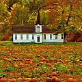 Church In A Pumpkin Patch by Elaine Walsh