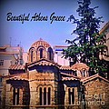 Church In Beautiful Athens by John Malone