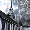Church In Kuusamo Finland by Guna Andersone
