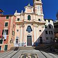 church in Sori. Italy by Antonio Scarpi