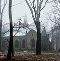 Church In The Misty Woods by Elaine Plesser