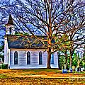 Church In The Wildwood - Paint by Scott Hervieux