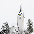 Church In Winter by Matthias Hauser