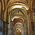 Church Interior Dordogne Region France by Dave Mills