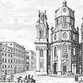 Church Of Notre Dame, Salzburg by Johann Bernhard Fischer von Erlach