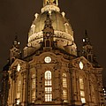 Church Of Our Lady At Night  -  Dresden - Germany by Christiane Schulze Art And Photography