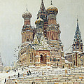 Church Of St. Basil In Moscow by Nikolay Dubovskoy