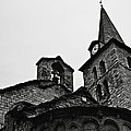Church Of The Assumption Of Mary In Bossost - Abse And Tower Bw by RicardMN Photography