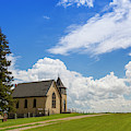 Church On A Hill In A Rural Setting by Susan Dykstra
