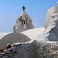 Church On Mykonos by Bob Christopher