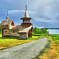Church On The Road by Yury Malkov