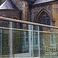 Church Seen Through A Transperant Screen  by Nick  Biemans