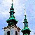 Church Steeples - Bratislava by Jon Berghoff