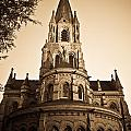 Church Towere In Sepia 1 by Douglas Barnett