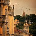 Churches In Town by Jill Battaglia