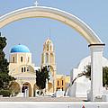 Churches Oia Santorini Greek Islands by Carole-Anne Fooks