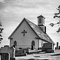 Churchyard Bw by Heather Applegate