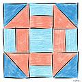 Churn Dash Block by Sandy MacGowan