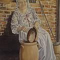 Churning Butter by Wanda Dansereau