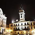 Cieszyn Town Center At Night by Mariola Bitner