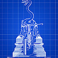 Cigar Lighter Patent 1888 - Blue by Stephen Younts
