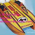 Cigarett Power Boat Illustration by Eric  Schiabor