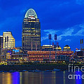 Cincinnati At Sunset by Edward Moorhead