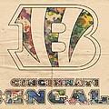 Cincinnati Bengals Logo Vintage by Florian Rodarte