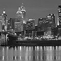Cincinnati Black And White Night by Frozen in Time Fine Art Photography