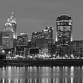 Cincinnati Black And White Panoramic View by Frozen in Time Fine Art Photography