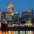 Cincinnati Blue Hour by Frozen in Time Fine Art Photography