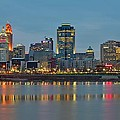 Cincinnati On The Riverfront by Frozen in Time Fine Art Photography