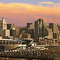Cincinnati Over The Bridge by Randall Branham