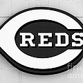 Cincinnati Reds Sign Black And White Picture by Paul Velgos
