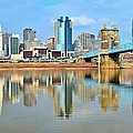 Cincinnati Reflects by Frozen in Time Fine Art Photography