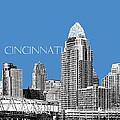 Cincinnati Skyline 1 - Slate by DB Artist