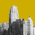 Cincinnati Skyline 2 - Gold by DB Artist