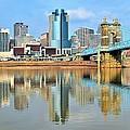 Cincinnati Skyline Reflects by Frozen in Time Fine Art Photography
