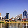 Cincinnati Skyline Riverfront Downtown Office Buildings by Paul Velgos