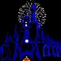 Cinderella Castle Fireworks by Benjamin Yeager