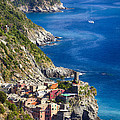 Cinque Terre Towns On The Cliffs by George Oze