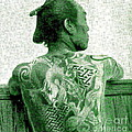 Circa 1900 Samurai Tattoo In Green by Peter Ogden