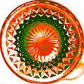 Circle Orange by Anita Lewis