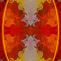 Circles Making Love Abstract Circular Artwork By Omaste Witkowsk by Omaste Witkowski